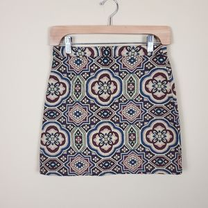 4/$25 Topshop Retro Print Knit Mini Skirt